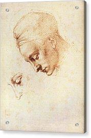 Leda's Head, Study Acrylic Print by Michelangelo Buonarroti