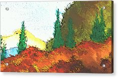 Ledge In The Forest Acrylic Print by Kathleen Voort