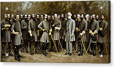 Robert E. Lee And His Generals Acrylic Print by War Is Hell Store
