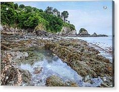 Lee Bay - England Acrylic Print