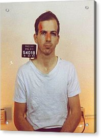 Lee Harvey Oswald Mug Shot Nov 22 1963 Vertical Color  Acrylic Print