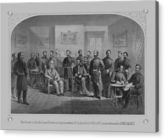 Lee Surrendering To Grant At Appomattox Acrylic Print