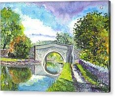 Leeds Canal Liverpool Acrylic Print by Carol Wisniewski