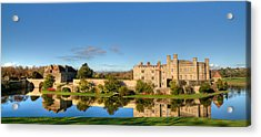 Leeds Castle And Moat Reflections Acrylic Print by Chris Thaxter