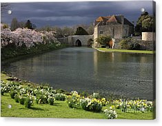 Leeds Castle In Kent United Kingdom Acrylic Print by Kiril Stanchev