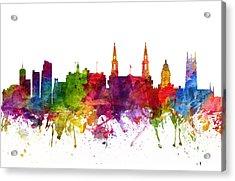 Leeds England Cityscape 06 Acrylic Print