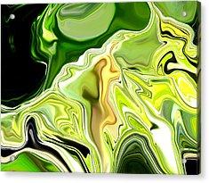 Leek Abstract Acrylic Print