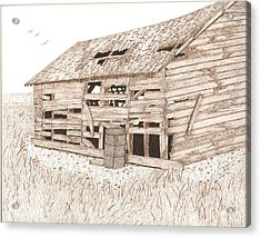 Lee's Barn Acrylic Print by Pat Price