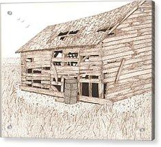 Lee's Barn Acrylic Print by Pat Price