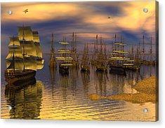 Leeward Anchorage Acrylic Print by Claude McCoy