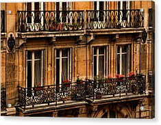Left Bank Balconies Acrylic Print