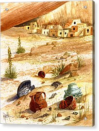 Acrylic Print featuring the painting Left Behind - Indian Pottery by Marilyn Smith