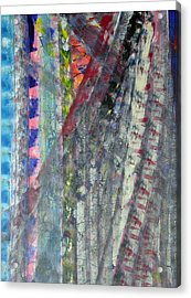 Left Blue Acrylic Print by Russell Simmons