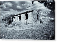 Left In Ruin Acrylic Print by Mike  Dawson