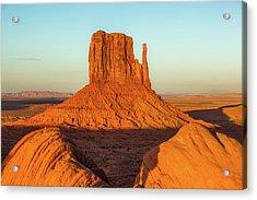 Left Mitten Sunset - Monument Valley Acrylic Print
