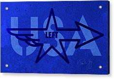 Left Wing Acrylic Print by Paul Gaj