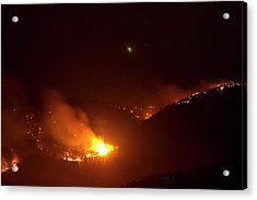Lefthand Canyon Wildfire Flare Up Boulder County Colorado Acrylic Print by James BO  Insogna
