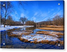 Leftover Snow Acrylic Print by Rick Friedle