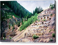 Leftovers From Sunnyside Mill Acrylic Print by Lana Trussell