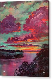 Legend Of A Sunset Acrylic Print