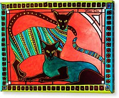 Legend Of The Siamese - Cat Art By Dora Hathazi Mendes Acrylic Print