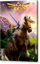 Legend Of Zelda- Link And Epona Acrylic Print