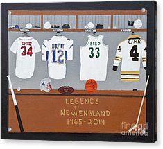 Legends Of New England Acrylic Print by Dennis ONeil