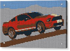 Lego Mustang Acrylic Print by Dan Sproul