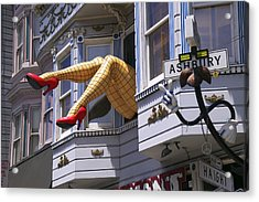 Legs In Window Sf Acrylic Print by Garry Gay
