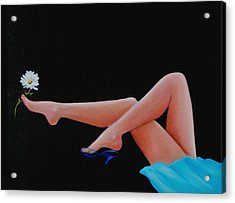 Legs Acrylic Print by Joni McPherson