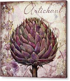 Legumes Francais Artichoke Acrylic Print by Mindy Sommers
