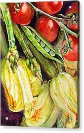 Legumes Acrylic Print by Muriel Dolemieux