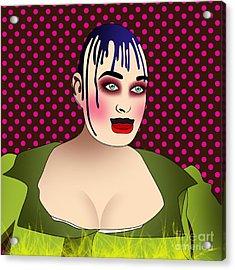Leigh Bowery 3 Acrylic Print by Mark Ashkenazi