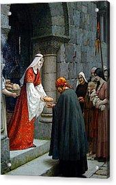 Leighton Edward Blair Charity Of St Elizabeth Of Hungary Acrylic Print