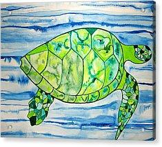 Leilani The Hawaiian Sea Turtle Acrylic Print