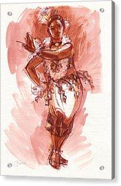 Lelei, Dancer Of Tonga Acrylic Print