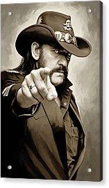 Acrylic Print featuring the painting Lemmy Kilmister Motorhead Artwork 1 by Sheraz A