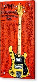Lemmy's Rickenbacker 4001 Rickenbastard Acrylic Print by Karl Haglund