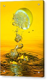 Lemon And Bubbles Acrylic Print by Travel Images Worldwide