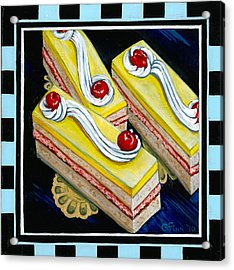 Lemon Bars With A Cherry On Top Acrylic Print