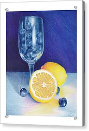 Lemon Blueberry Muffins Acrylic Print by Elizabeth Dobbs