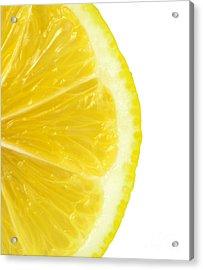 Lemon Close Up Acrylic Print by Deyan Georgiev