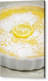Lemon Curd Tart Acrylic Print by Jorgo Photography - Wall Art Gallery