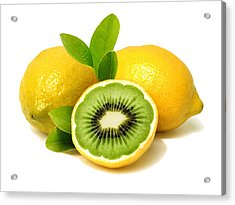 Acrylic Print featuring the digital art Lemon Kiwi by ISAW Company