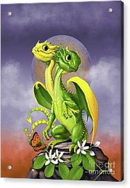 Acrylic Print featuring the digital art Lemon Lime Dragon by Stanley Morrison