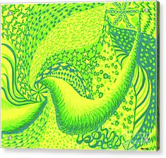 Lemon Lime Acrylic Print by Kim Sy Ok