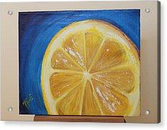 Lemon Acrylic Print by Matt Burke