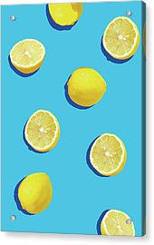 Lemon Pattern Acrylic Print