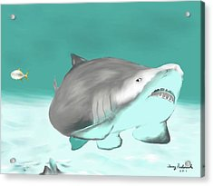 Lemon Shark Acrylic Print