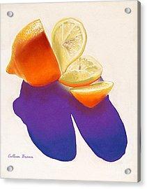 Lemon Slice Acrylic Print by Colleen Brown